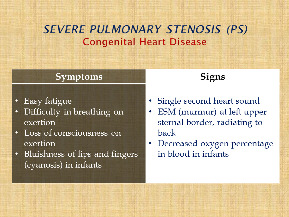 presentation of pulmonary stenosis