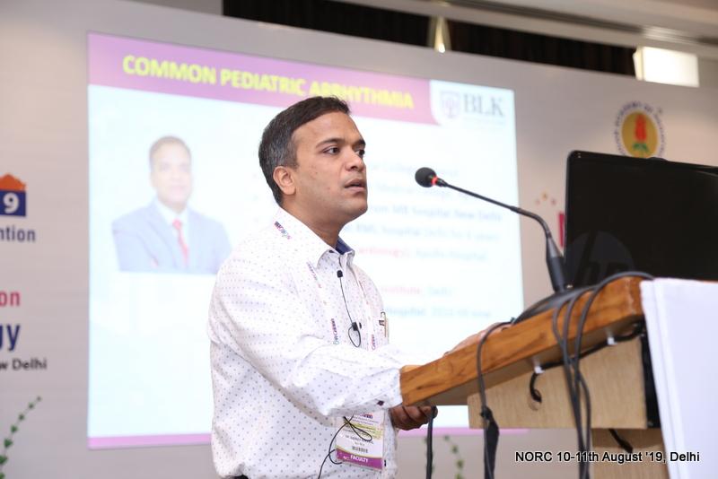 """Giving a talk on """"Pediatric arrhythmia"""" in Pediatric Cardiology workshop held on 10th August 2019 in Radisson Blu Dwarka, New Delhi"""